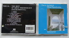 CD Album This is the best of ... MIKIS THEODORAKIS Instrumental 14C 045 708742
