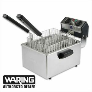 Waring WDF75RC Commercial Compact 8.5lb Deep Fryer 120V 1 Year Warranty  BLOWOUT