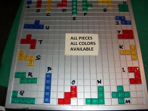 Blokus Game  Replacement Pieces Educational Insights Mattel 2005 2009 RIDGED!!
