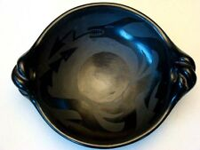 Vintage 1930s Native American Indian MARGARET TAFOYA Black Pottery SANTA CLARA