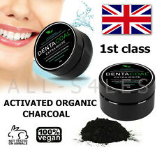 Dentacoal ® Activated Charcoal Teeth Tooth Whitening Powder 100% Natural UK