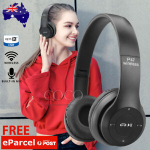 Noise Cancelling Wireless Headphones Bluetooth 4.2 earphone headset with Mic AU