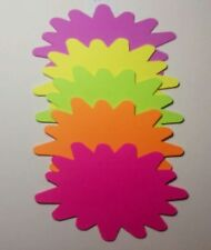 """4""""x5.5"""" 100pk Fluorescent Price Neon Retail Tags Cards Signs NEW"""