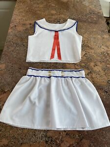 Age 14-16 White Sailor Halloween Outfit Dress Up Dance Outfit