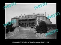 OLD LARGE HISTORIC PHOTO OF KATOOMBA NSW, VIEW OF THE CARRINGTON HOTEL c1920