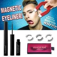 Phoera Magnetic Liquid Eyeliner Gel False Fake Eyelashes Makeup Perfect I6Y0