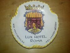 RARE Hand Painted Italian Lux Hotel Roma ORVIETO majolica  Advertising ASHTRAY