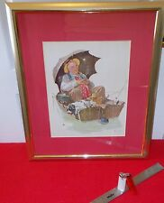 NORMAN ROCKWELL FRAMED LITHOGRAPH, 20TH. CENTURY ART.
