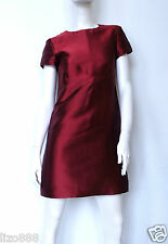Burberry London silk blend A-line shift mini dress in red Sz UK 4 / EU 36