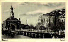 LEIDEN tolle ältere AK Holland Brücke Zijlpoort Netherlands Briefkaart ca. 1950