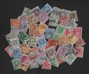 COMMONWEALTH unchecked KEVII & KGV used collection (50)