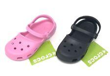 CROCS Girls Karin Clogs Mary Jane Shoes  Choose size >> Black, Pink, Navy Blue