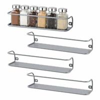 4 PCS  Wall-Mounted Racks Spice Rack Bottles Holder Kitchen Organizer Large Size