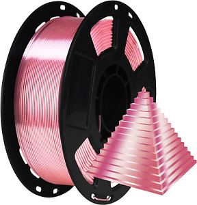 1.75mm Silk Rose Gold PLA Pink Pearlescent Shining 3D Printing Material, 1kg 3D
