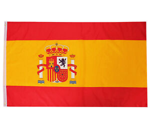 SPANISH FLAG 5FT X 3FT SPAIN NATIONAL COUNTRY FLAGS SPORTS FOOTBALL EVENT PARTY