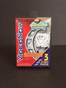 VIDEO NOW- SPONGE BOB SQUAREPANTS -3 DISC-SET 6 Episodes Tiger Electronics