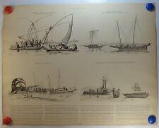 bateaux de Canton Salamba machine à pêcher Pindjajap de Sumat planche 1908/SMD10
