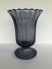Vase RSL de la cristallerie du Val-Saint-Lambert, luxval, mauve