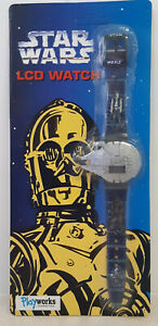 Star Wars LCD Watch Millennium Falcon Han Solo Chewbacca C3PO Playworks 1997