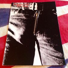 THE ROLLING STONES postcard STICKY FINGERS