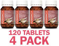 Fusion Health Organic Magnesium Advanced 120 Tablets Improved Formula Cramps
