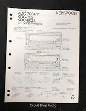 Original Kenwood KDC-7024/Y / 722 / 8023 CD Receiver Service Manual