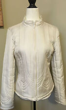 Tribal 100% Silk Quilted Insulated Zip Jacket Size 6
