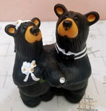 Big Sky Carvers Bearfoots Wedding Couple Jeff Fleming Cabin Decor Cake Topper