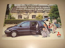 MITSUBISHI SPACE RUNNER & SPACE WAGON UK SALES BROCHURE OCT.93 NEW, OLD STOCK