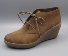 """""""NICE MELODY""""Clark's Women/Ladies Khaki Suede Ankle Boots size 4.5 D."""