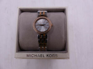 MICHAEL KORS DARCI MK3298 SILVER AND ROSE GOLD WOMENS WATCH