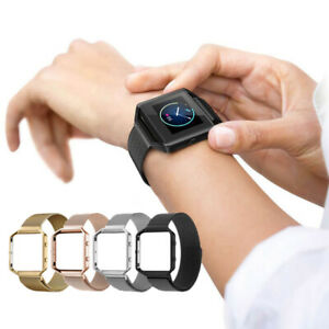 Stainless Steel Magnetic Bracelet Watch Strap Band for Fitbit Blaze Watch +Frame