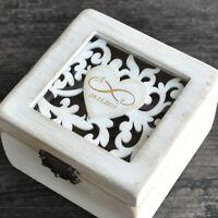 Custom Wedding Ring Holder Ring Box Rustic Wedding Ring Bearer Box Wedding Gift