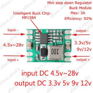 DC-DC Buck Step Down Converter Regulator Power Supply Module 3.3v 5v 9v 12v 3A