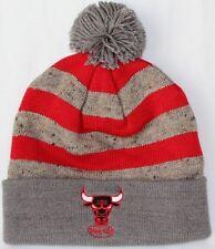 faa440bab26 NBA Chicago Bulls Mitchell   Ness Cuffed Pom Knit Hat Cap Beanie M N ...