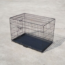 """36"""" / 92cm Pet Dog Cage Puppy Cat Collapsible Metal Crate Portable Kennel House"""