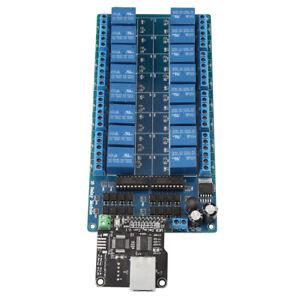 Ethernet Control Module LAN WAN Network WEB Server RJ45 Port + 16Ch Relay New