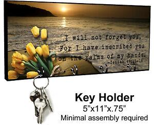KEY HANGER HOLDER RACK - CHRISTIAN #3 Lord Jesus Christ Religious Prayer Gift