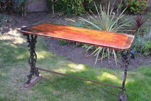 Antique Victorian Wrought Iron Console Table 33 cm Circa 1860