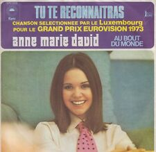 "Anne Marie David Tu Te Reconnaitras 7"" vinyl single Eurovision Song Contest 1973"