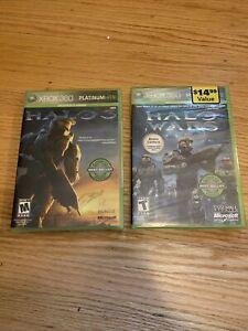 Halo Wars & Halo 3 Platinum Hits (Microsoft Xbox 360) Brand New Factory Sealed!