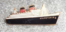 old cloisonne pin advertising the Mauritania oceanliner