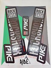 Rock Shox Pike 2018 Stile Adesivo Decalcomania Set-Enduro, DH, Nero/bianco personalizzato.