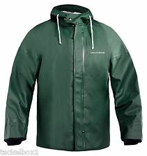 Grundens Foulweather Gear Brigg 44  Parka Hooded w/Neoprene Cuffs Green LARGE