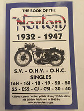 NORTON MANUAL 16H 16I 18 19 20 30 40 50 55 ES2 CJ CSI WORKSHOP MODELS 1932-1947