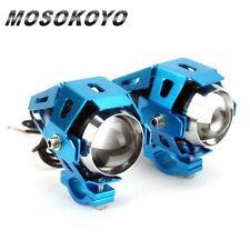2X White Transformers Style CREE U5 LED Spot Lights For Motorcycle Kawasaki MOS