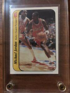 1986 Fleer Sticker Basketball #8 Michael Jordan Rookie HOF Centered Pack Fresh