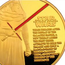 NEW 1 x Star Wars Episode 7 The Force Awakens Gold plated coin  - 3pcs total