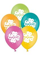 "Good Luck - 12"" Printed Latex Assorted Balloons Pack of 6  Shamrock, Clover"