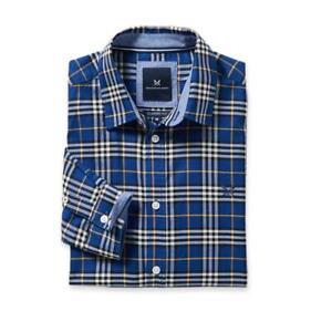Crew Clothing Classic Oxford Check Shirt - Marine Blue - RRP £65